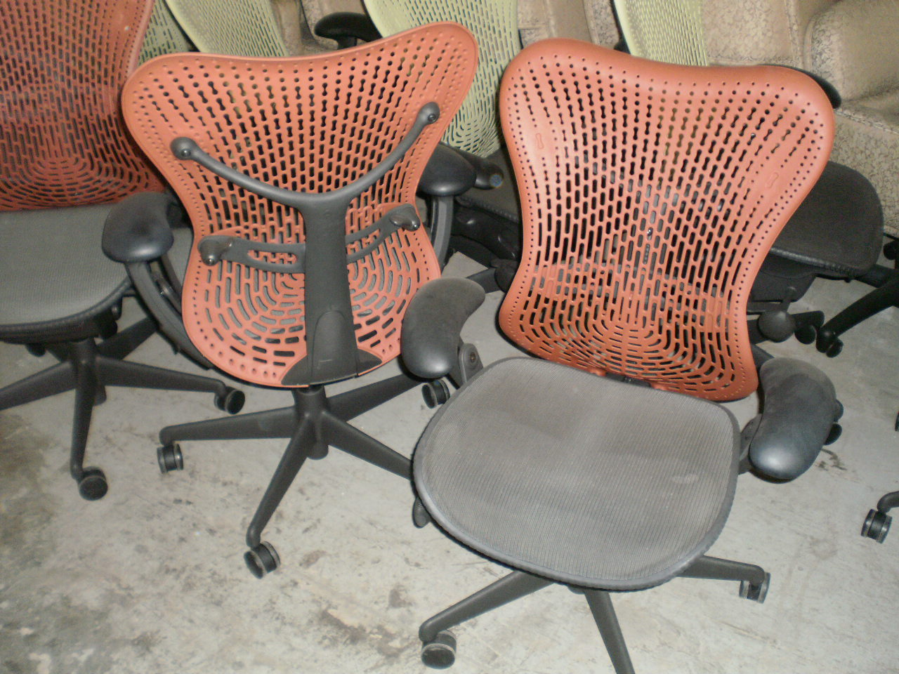 herman miller mirra orange back