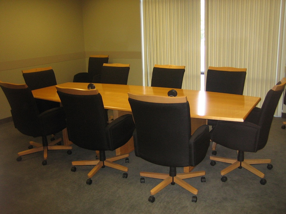 Conference Table And Chairs - Used conference room table and chairs