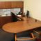 Wood Veneer U-shaped Desk Set