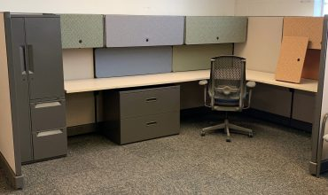 Used Herman Miller AO2 6×8 cubicles with 62″ high panels