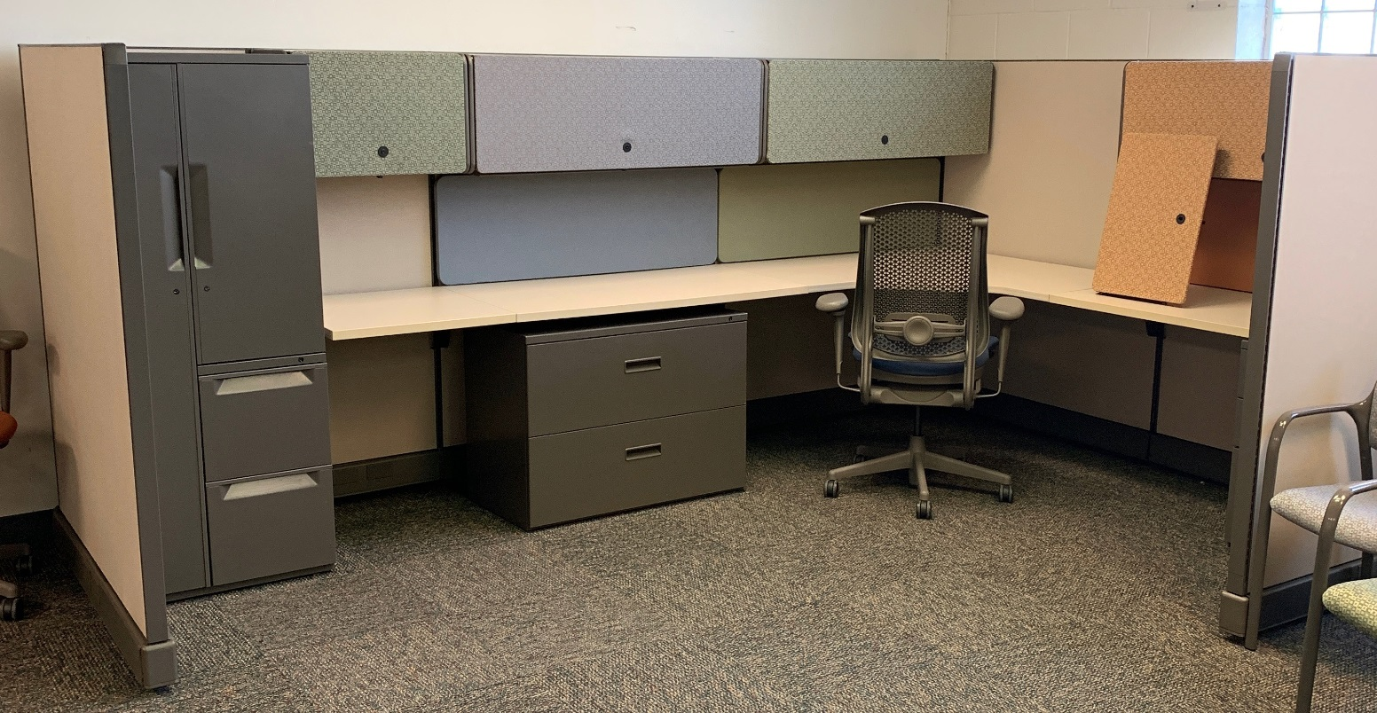 Used Herman Miller AO448 448×48 cubicles with 448448″ high panels