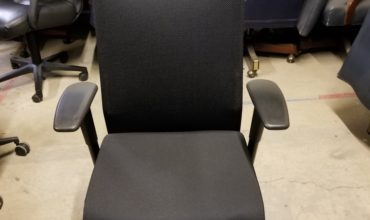 Allsteel Task Chair, T arm, fully adjustable, black seat and back