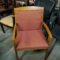 Side Chair, Wood Frame with arms, upholstered seat and back