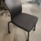 Haworth, Look Stack Chairs, black frame, polyurethane back and upholstered seat-charcoal color. Has casters, no arms